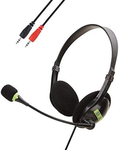 DaMohony Computer-Kopfhörer, USB-Headset mit Mikrofon, On-Ear-Kopfhörer mit Mikrofon-Schalter, Lautstärkeregler für Desktop-PC, Laptop