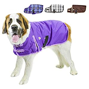 Derby Originals Horse Tough 1200D Waterproof Winter Dog Coat with 2 Year Warranty – Designed with Heavy Duty Ripstop Nylon & No Rub Breathable Inner Lining Insulated – Multiple Styles & Sizes, Extreme Elements Series, 22″, Purple