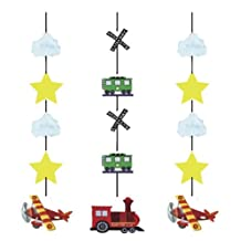 """Creative Converting 3 Count """"On The Go"""" Hanging Cutouts Party Decoration"""