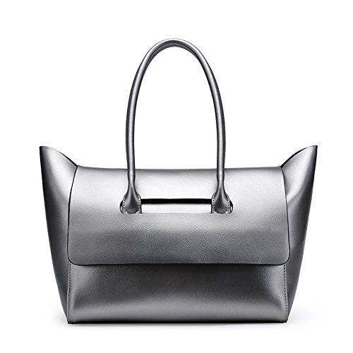 Bronce Bag Messenger GUANGMING77 Sra Bolso Color Portátil Silver Bolsa De Simple Hembra Suave Hombro gray 7zdxpz