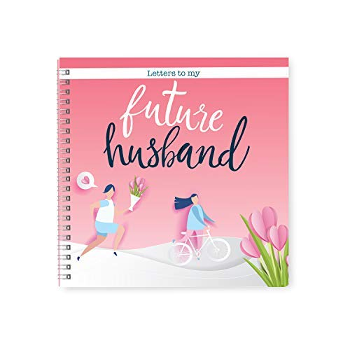 Letters To My Future Husband Book & Scrapbook | Gorgeous Keepsake Journal For The Newly Engaged Couples Looking for the Perfect Love Story | Includes Relationship Stickers For Your Love Notes (Pink)