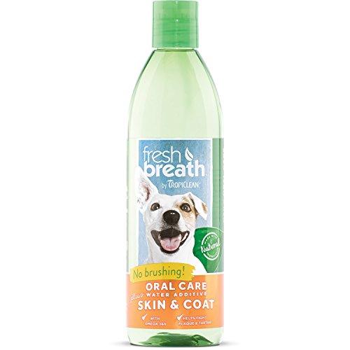 TropiClean Fresh Breath Oral Care Water Additive Plus Skin & Coat, 16oz