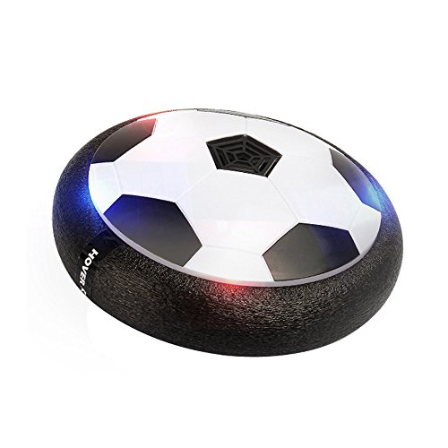 MiluoTech Air Power Soccer Disc, Pneumatic Suspended Football with Foam Bumpers and LED Lights, Hover Disk Gliding Ball Disc Toy for Indoor and Outdoor - Indoor Soccer Disc