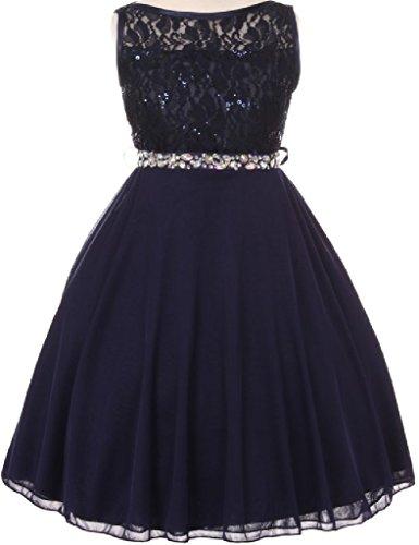 Buy blue and orange flower girl dresses - 9