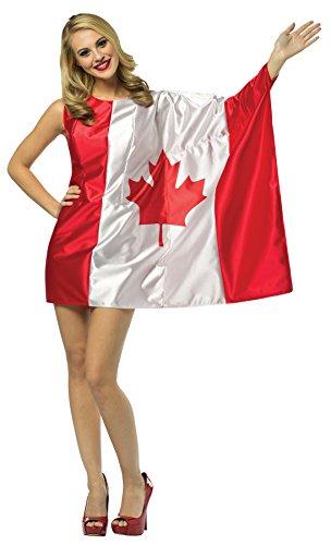 Women's Canada Flag Fancy Dress St. Joseph Day Halloween Canadian Costume, OS ()