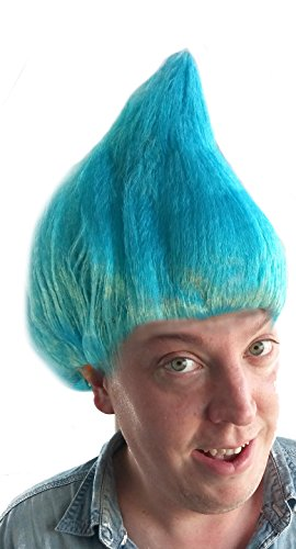 Light Blue Troll Wig | Costume Wig for Adults, Kids, Unisex, Men, Women, Cosplay, Halloween