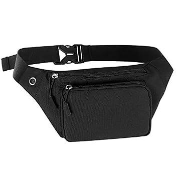 HAWEE Moda Riñonera Deporte Bolso de Cintura Unisexo Paquete de Cintura Bolso de Cinturon con Conector para Auriculares para Hombre Mujer Running ...