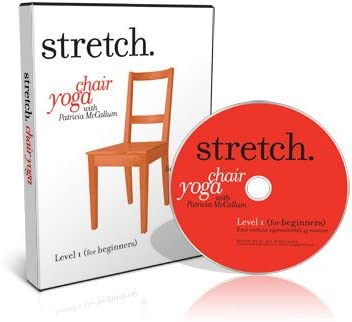 Amazon Com Stretch Chair Yoga With Patricia Mccallum 5 Dvd Set Including The Levels 1 5 Programs Of Gentle Sitting Standing Exercises For The Ageless Over 50s Seniors Elderly