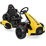 Best Choice Products 12V Kids Go-Kart Racer Ride-On Car w/Push-to-Start, Foot Pedal, 2 Speeds, Spring Suspension -Yellow