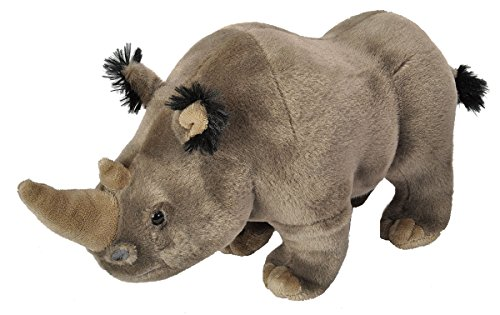 Wild Republic White Rhino Plush, Stuffed Animal, Plush Toy, Gifts for Kids, Cuddlekins 12