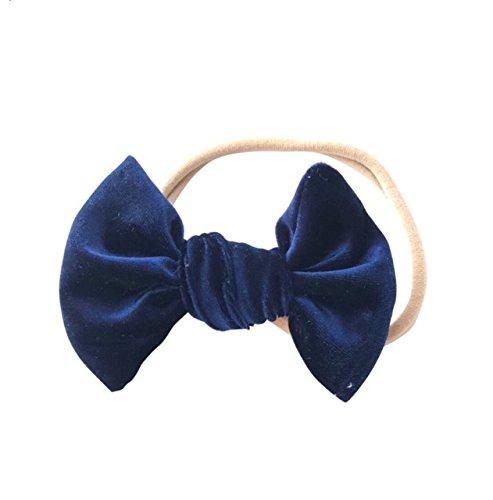 Amazon.com  Navy bow headband - baby headband - velvet bow - girls headband  - nylon headband - headbands - dark blue bow  Handmade 47100178004