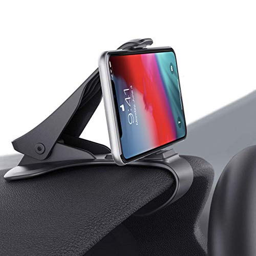 (Car Phone Holder Clamp Arm Car Mount Dashboard Mobile Clip Stand HUD Design Compatible for iPhone Xs,X, 8, 8 Plus, 7, 7 Plus, Samsung Galaxy S9,S8, S8 Plus, S7, Note 9 Edge and More(3.0-6.5inch))