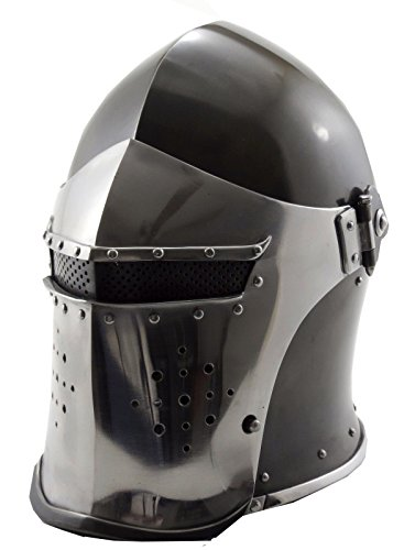 VTC Helmet New Black Barbuta Roman Gladiator Armor -