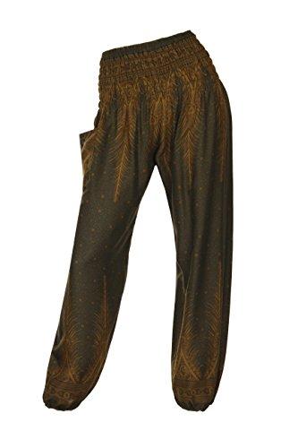 motivi Brown diversi con 18 HAREM pantaloni HIPPIE 2 ALADDIN pantaloni Peacock vYqnHpCw