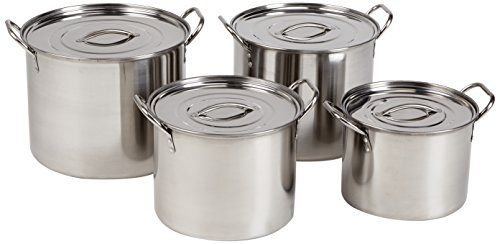 Alpine AI14437 4-Piece Stainless Steel Stock Pots by Alpine