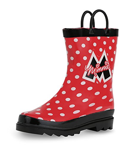 Minnie Mouse Red Dress (Disney Minnie Mouse Girl's Red Rain Boots (Toddler/Little Kid) (6 M US Toddler ))