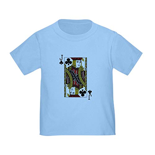 CafePress Jack of Clubs Toddler T Shirt Cute Toddler T-Shirt, 100% Cotton Baby Blue