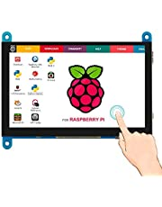 Elecrow Monitor Display IPS Screen -7 Inch 1024X600 HD TFT LCD with Touch screen for Raspberry Pi B+/2B Raspberry Pi 3 Windows 10/8.1/8 / 7
