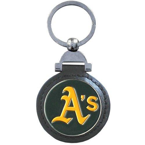 Siskiyou MLB Oakland Athletics Leather Key Ring