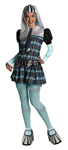 Secret Wishes Monster High Deluxe Adult Frankie Stein Costume, Blue, X-Small