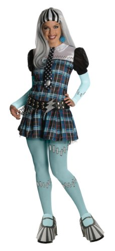 Secret Wishes Monster High Deluxe Adult Frankie Stein Costume, Blue, Small