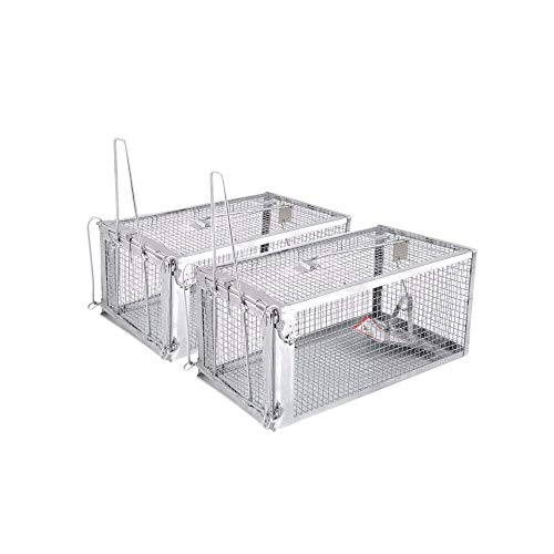 - AB Traps Pro-Quality Live Animal Humane Trap Catch and Release Rats Mouse Mice Rodents and Similar Sized Pests - Safe and Effective - 10.5