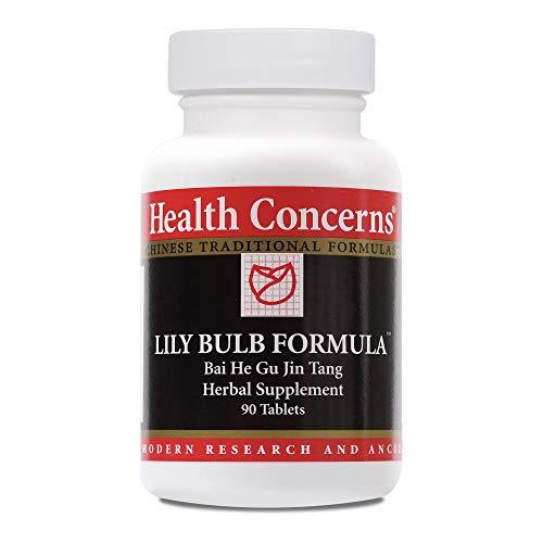 - Health Concerns - Lily Bulb Formula - Bai He Gu Jin Tang Herbal Supplement - 90 Tablets