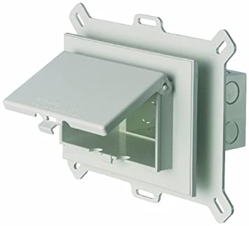 Arlington DBVS1C-1 Low Profile IN BOX Recessed Outlet Box Wall Plate Kit for New Vinyl Siding Construction, Vertical, 1-Gang, Clear Arlington Industries