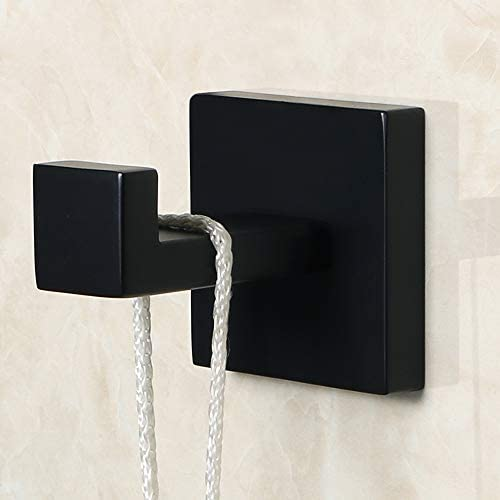Sayayo Robe Hook Single Towel Hook Wall Mounted, SUS304 Stainless Steel Matte Black, EGS7025-B