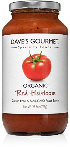 (Dave's Gourmet Organic Red Heirloom Pasta Sauce, Pack of 1)
