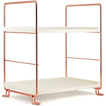 Amazon.com: Crowned 2-Tier Corner Storage Shelf Stackable ...