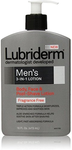 Lubriderm Men's 3-in-1 Fragrance-Free Lotion, 16 Fl. Oz