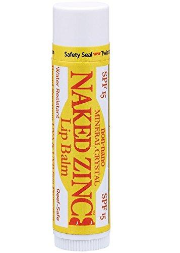Flavored Spf 15 Lip Balm (The Naked Bee Zinc Broad Spectrum Spf 15 Lip Balm, 0.15 Ounce)