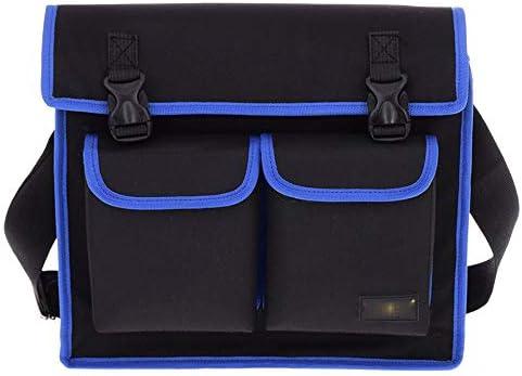 ツールバッグ マルチポケット多機能機能テクニシャン防水ショルダーBagsProfessionalパワーツールバッグ 工具収納便利 (Color : Blue, Size : One size)