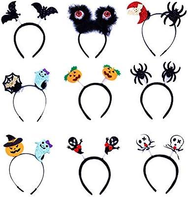 STOBOK Diademas de Halloween para niños aro de Pelo de Halloween para niños, Pack de 12: Amazon.es: Juguetes y juegos