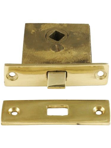 - House of Antique Hardware R-01SE-270033 Small Solid Brass Mortise Latch with 1 1/4