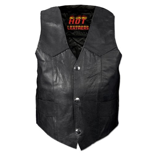 Hot Leathers Youth Classic Biker Vest (Black, XX-Large) -