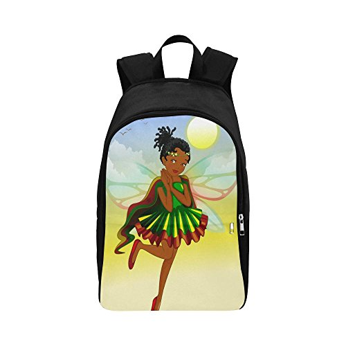 Black Backpack For Women Girls African American School Bag
