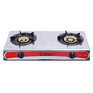 douself Acero inoxidable 2 quemadores cocina de gas estufa ...