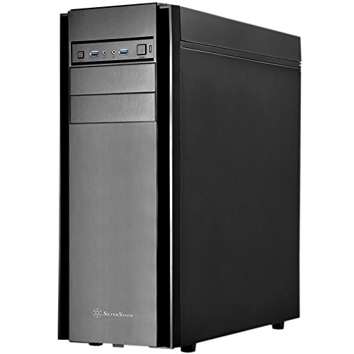 Silverstone Tek ATX, Micro-ATX Mid Tower Computer Case with Foam Padded Side Panel Cases KL05B-Q by SilverStone Technology