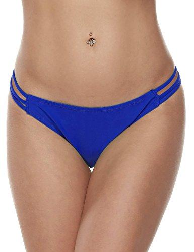Wlone Brazilian Bikini Thongs Cheeky Bottom Pants Beach Underwear (Brazilian Classic Thong)