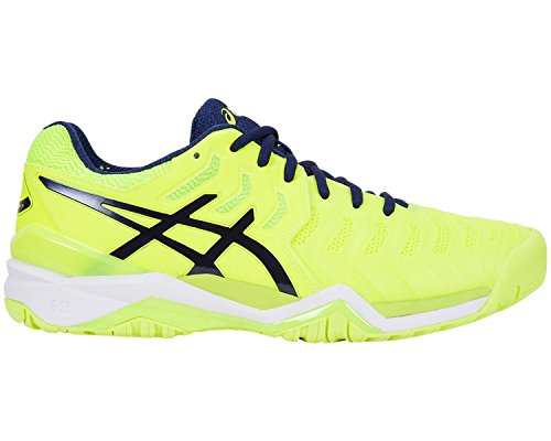 Gel De 7 schwarz Homme blau Asics Chaussures resolution Neongelb 0749 Tennis Iwgxdq7