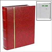 Briefmarkensammelalbum, weinroter Einband: 64 Seiten weiß