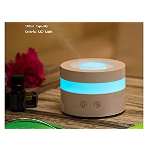 Mini USB Essential Oil Diffuser, MFEEL 100ml Portable Humidifier, Travel-size Air Humidifier Ultrasonic Cool Mist Aroma Humidifier air Purifier for Bedroom Baby room Home Office Car