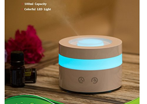Mini USB Essential Oil Diffuser, MFEEL 100ml Portable Humidifier, Travel-Size Air Humidifier Ultrasonic Cool Mist Aroma Humidifier Air Purifier for Bedroom Baby Room Home Office Car by MFEEL (Image #2)