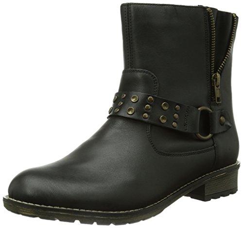 Remonte Women's Warm lined biker boots short length Black - Schwarz (01) yImG0v
