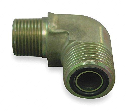 Eaton Aeroquip Male ORS to Male NPT 90 Degree Elbow Hydraulic Hose Adapter FF2032T0404S - 1 Each