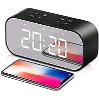 Digital alarm clock 2-in-1 digital mirror clock with USB port adjustable brightness meter clock for home office hotel…