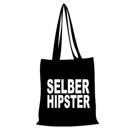 Sacchetto di cotone selber Hipster–Nero