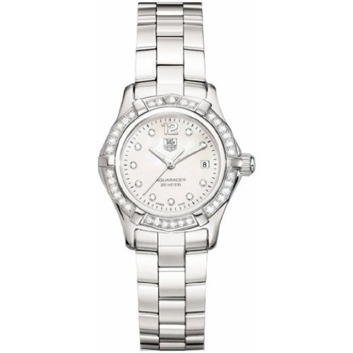 TAG Heuer Women's WAF1416.BA0824 Aquaracer Swiss-Quartz Diamond Mother-Of-Pearl Dial